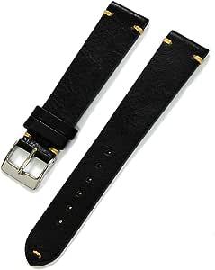 CASSIS[カシス] カーフ 時計ベルト 裏面防水 GRENOBLE グルノーブル 18mm ブラック 交換用工具付き X0031331019018M