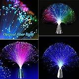 光る ファイバーライト 光ファイバーライト シルバー台座 ファイバーツリー クリスマス LED 光ファイバーイルミネーション LEDグラデーションライト ファイバーツリー 光るLEDライト・イルミネーション パーティーグッズ 光ファイバー