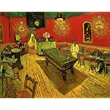 Wieco Art - The Night Cafe in The Place Lamartine in Arles by Van Gogh Famous Oil Paintings Reproduction Artwork Pictures on