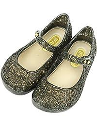 Mulslect キッズ ラバーシューズ 子供靴 女の子 メリージェーン ゼリーバードネスト レイヤードサンダル