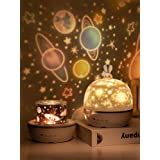 AOCHEN Fancy 8 Films Moonlgiht Bunny Night Light Kids Projector Lamp for Children Lighting Baby Nursary Birthday Party Decora
