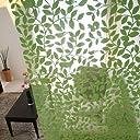 SunnyDayFabric フリーカット パネル ウッディ 北欧 カーテンフック付き グリーン 約95cm幅×200cm丈