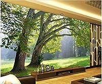 Bzbhart 3D壁紙シルク壁画 壁壁画壁紙用リビングルーム天然林木装飾絵画-300cmx210cm