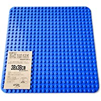 Grouportoy ブロック 基礎板 38X38cm 大きいベースプレート (青-L)