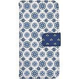 TeamS(チームエス) iPhone8 [i6] ケース 手帳型 スマホケース nbfl014a 北欧 花柄 おしゃれ ホワイト ミラータイプ