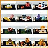陶器 日本製 縁起物四季の玄関飾り12ヶ月セット 箱29.2x22x6.5cm 業務用 飲食店