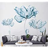 DERUN TRADING Wall Stickers & Murals Home Décor Home Décor Accents for Living Room Flower Wall Decals Home Improvement Paint