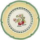 Villeroy & Boch French Garden Valence Bread Plate, 17 cm, Premium Porcelain, White/Multicoloured