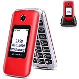 Ushining 3G Seniors Phone Unlocked SIM-Free 3G Flip Mobile Phones Dual SIM Card Slots Flip Phone Large Button Large Volume wi