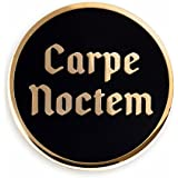 Pinsanity Carpe NoctemSeize The Night Gothic Enamel Lapel Pin