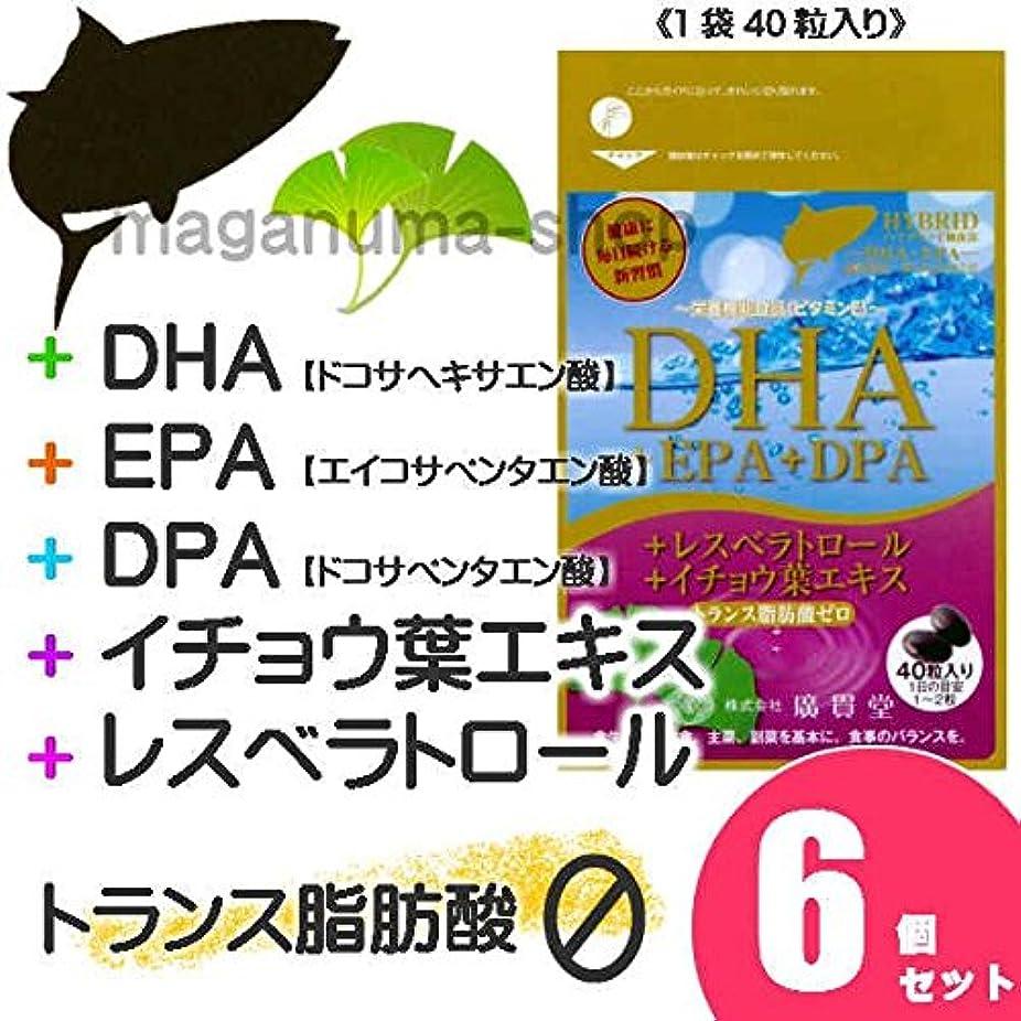 ブルジョン運動するステップDHA+EPA+DPA+レスベラトロール+イチョウ葉エキス 6個セット