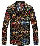(プチドフランセ) Petit etc Francais メンズ 花柄 トップスシャツ リネン麻シャツ 08  (02  M)