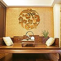 ホット 6 ピース ホームルーム インテリア diy瑞雲ミラー ウォール ステッカー デ カール壁画新しい-銀
