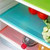 seaped 5 Pcs Refrigerator Mats,EVA Refrigerator Liners Washable Can Be Cut Refrigerator Pads Fridge Mats Drawer Table Placema