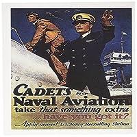 BLNヴィンテージ世界大戦と世界戦争IIポスター–Vintage Cadets for海軍米国海軍航空募集ポスター–グリーティングカード Set of 12 Greeting Cards