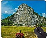 パーソナライズされたマウスパッド、山仏像彫刻パーソナライズされた長方形のゲームのマウスパッド