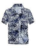 (ワイ-ミー) Y-ME 夏 半袖シャツ アロハシャツ ビーチシャツ おしゃれ 通気性