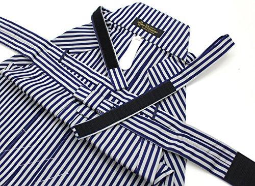 リメイク素材に最適! 七五三 袴セット 5歳 男の子 リサイクル 紺 縦縞 ワンタッチ帯 簡単 紐下60cm 中古