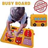Rosydream Busy Board Montessori Toys Activity Board Educational Learning Toys for Children Toddlers Puzzle Educational Felt T