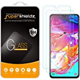 [2-Pack] Supershieldz for Samsung Galaxy A70 Tempered Glass Screen Protector, Anti-Scratch, Bubble Free, Lifetime Replacement