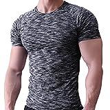 Slim Aive ボディービルディング メンズ コンプレッショ フィットネス スポーツシャツ ック 半袖