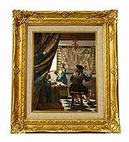世界の名画 フェルメール 絵画芸術 ジクレーキャンバス複製画F3号豪華額装品
