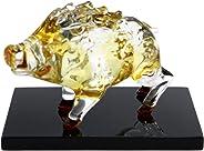 フォーカート 置物 クリア W90H65mm かわいい 手作り ガラス細工 開運 猛進 亥 神飾り CKF044