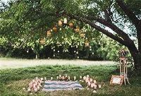 aofoto結婚式バックドロップアーチカーテン花写真背景ガーデンTeaパーティー装飾フォトスタジオ小道具ブライダルシャワーガールフレンド恋人カップルArtistic Portraitビニール壁紙