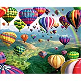 5D DIY Diamond Painting Full Round Drill Rhinestone Embroidery for Wall Decoration - Hydrogen Balloon 12X16 inches