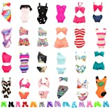 Barwa 5 Sets Swimwear Swimsuit Beach Bikini Bathing Clothes with Shoes for 11.5 Inch 28 - 30 cm Doll