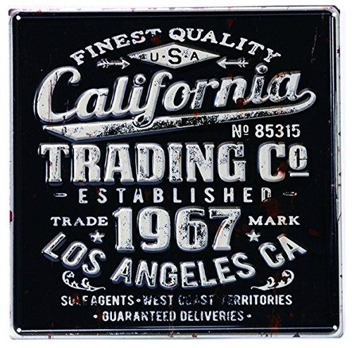 アンティーク風 デザインボード ブリキ看板 メタル M 【30×30cm】 カリフォルニア