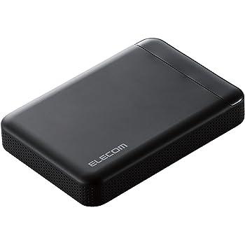 エレコム HDD 外付けハードディスク 1TB ビデオカメラから直接保存 衝撃吸収インナーフレーム ELP-EDV010UBK