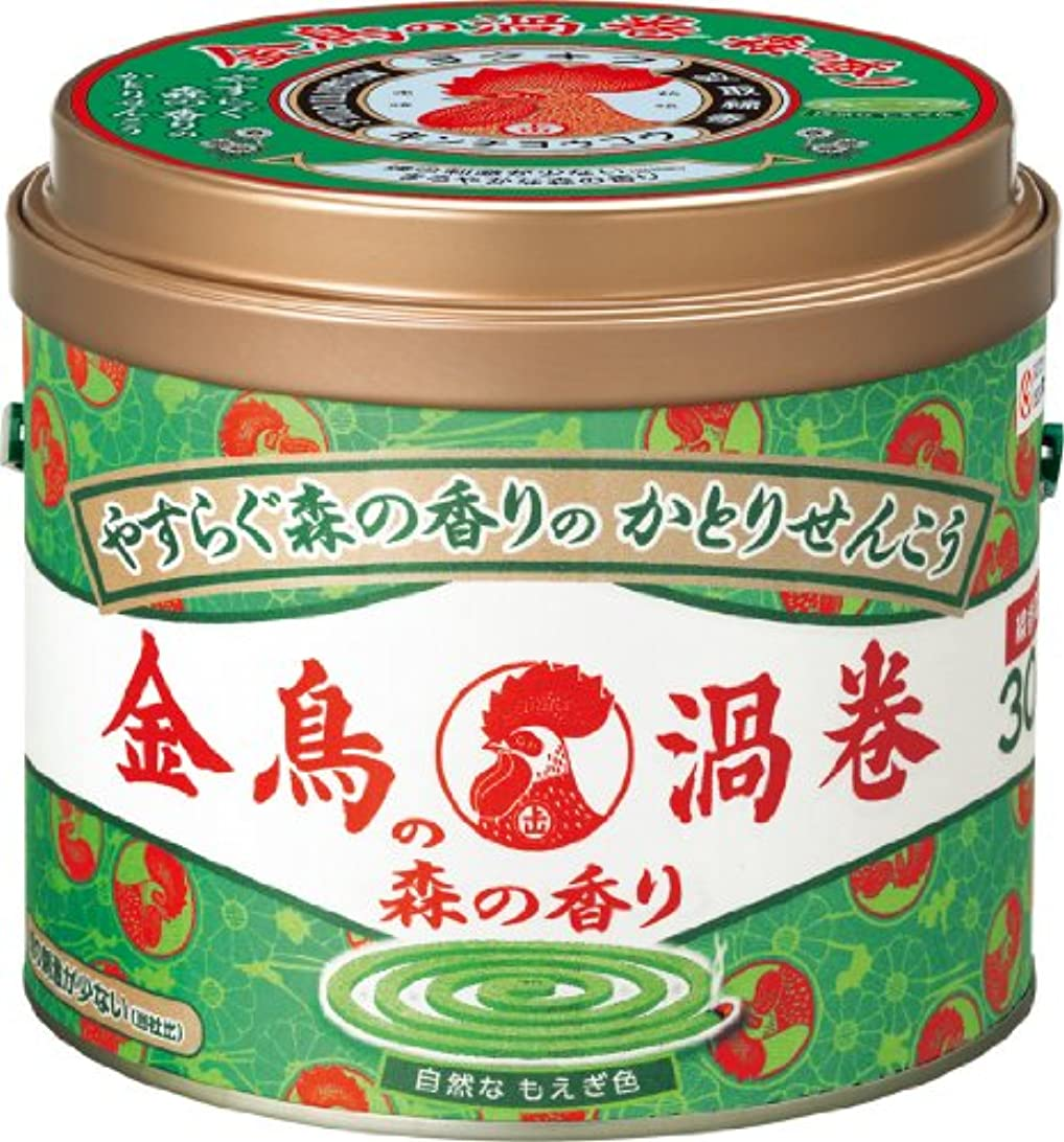 発生よく話されるシリアル金鳥の渦巻 蚊取り線香 森の香り 30巻 缶