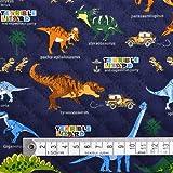 発見!探検!恐竜大陸(ネイビー) キルティング生地 ハンドメイド 手作り用生地 T0165600