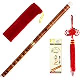 1pkg Traditional Handmade Chinese Musical Instrument Bamboo Flute/Dizi in D Key