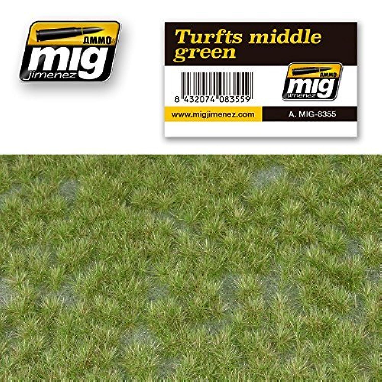 AmmoのMig Jimenez Turfs MiddleグリーンリアルなGround with vegetation # 8355