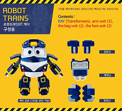 Korean Animation Robot Trains - Kay / Transformer Train Robot character Kay Alf Duck Sally / ロボットトレインケイ韓国アニメーションキャラクター /Toy Kids [韓国から発送]