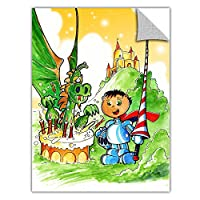 ArtWall ArtApeelz Luis Peres 'Knight Kid' Removable Wall Art Graphic, 36 by 48-Inch [並行輸入品]