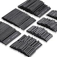 JTENG 熱収縮チューブ 508ピースセット 絶縁チューブ 防水 高難燃性 収縮 チューブ ブラック 7サイズ Φ2mm~13mm