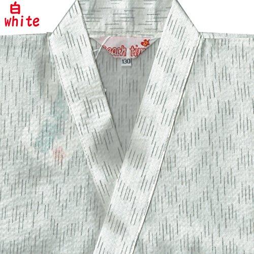 キッズ 甚平 男の子 130/140/150  133-1707 (130, 白)