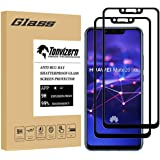 [2-Pack] Tonvizern Compatible for Huawei (Mate 20 Lite) Tempered Glass Screen Protector [Full Glue Coverage], 0.26mm 9H Hardn