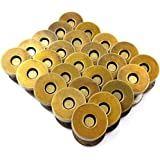 50 Sets Magnetic Purse Snap Clasps Button/Great for Closure Purse Handbag Clothes Sewing Craft Silver, Silver, 18mm Bronze (5