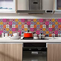 Euone 壁ステッカー クリアランス 60x200cm 粘着タイル床 壁 デカール ステッカー DIY キッチン 浴室 装飾 壁画