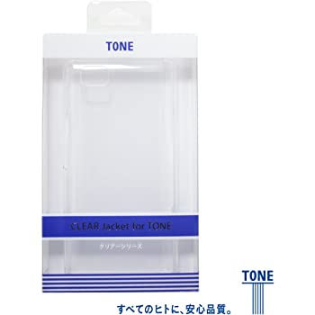 スマートフォン TONE(m15)用 クリアケース CLEAR Jacket for TONE