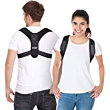 Posture Corrector for Men and Women, Adjustable Upper Back Brace for Clavicle Support and Providing Pain Relief from Neck, Ba