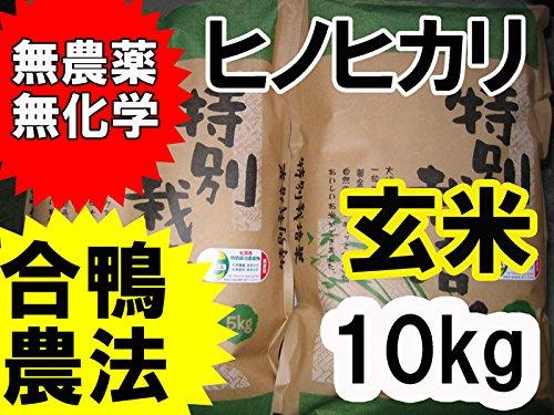 【玄米】【合鴨農法】【無農薬】【無化学肥料】令和元年産 九州 佐賀県産 特別栽培米 ヒノヒカリ 5kg×2
