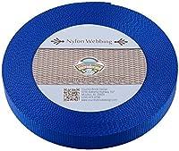(10 Yards, Royal Blue) - Country Brook Design Heavy Nylon Webbing (2.5cm)
