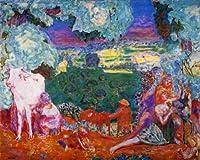 ボナール・「田園交響曲あるいは田舎」 プリキャンバス複製画・ ギャラリーラップ仕上げ(6号サイズ)