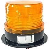 【Angelicate】12/24V 兼用 フラッシュ ストロボ LED 警告灯 回転灯 (オレンジ(3本コード))