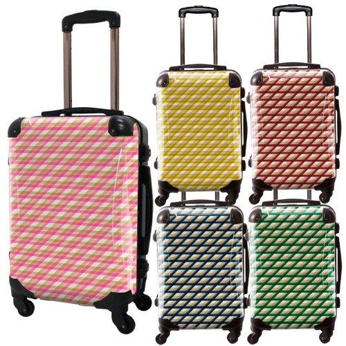 カウボーイタータンスーツケース/ベーシック/フレーム4輪/TSAロック/機内持込可能/キャラート/ピンク イエロー レッド ネイビー グリーン/CRA01-021